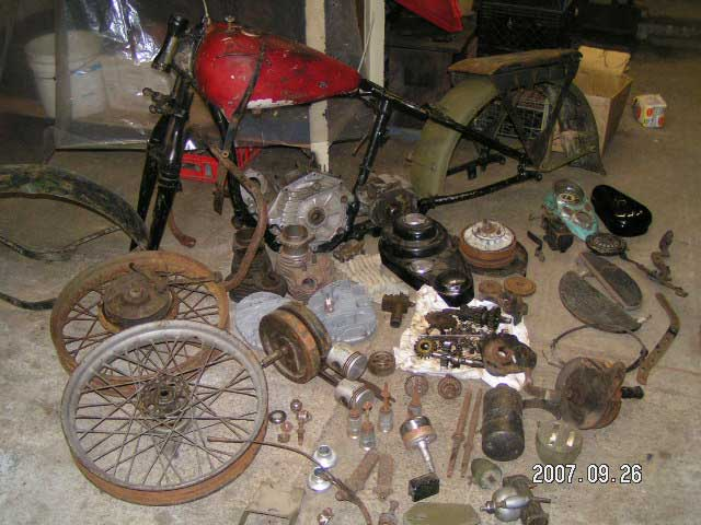 Harley WLA Parts Bike